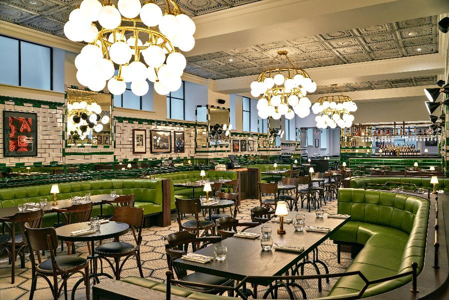 Interior of Isaac's Restaurant
